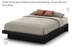 Queen bed frame in Fort Riley, Kansas