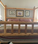 California King log canopy bed. Built in Utah from either cedar or aspen. Solid as a rock!!!!  N... in Cherry Point, North Carolina