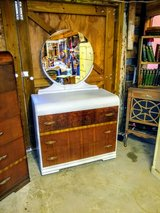 signed antique waterfall dresser and mirror in Cherry Point, North Carolina