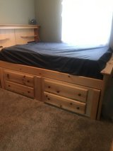 Full size Captains Bed-8 drawer with armoire(not pictured) in Fort Leonard Wood, Missouri