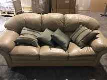 White Leather Couch in Oswego, Illinois