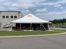 Furniture Tent Sale to fill the new house in Fort Campbell, Kentucky