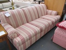 Beige and Red Striped Sofa in Glendale Heights, Illinois