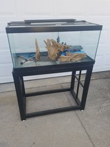 Large / 48 Gallon 2 Piece Iron Fish Tank & Stand in Fort Campbell, Kentucky