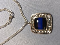 Thin Blue Line Pendant Square with Bling on Stainless Steel Chain $20.00 in Kingwood, Texas