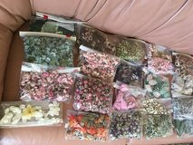 high quality silk flowers, various decorations - 50 cents to $1 per bag in 29 Palms, California