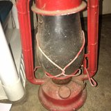 antique red metal glass Dietz Junior Lantern in Warner Robins, Georgia