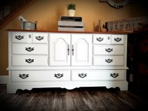 Large refinished 10 drawer dresser/ Buffet/ TV Console in Joliet, Illinois