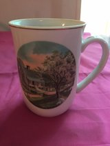 Vintage Currier and Ives Four Seasons mugs in Beaufort, South Carolina