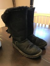 Black UGG boots w/bows - 7 in Westmont, Illinois