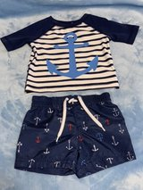 Old Navy 0-3M Rashguard and Trunks Set in Okinawa, Japan