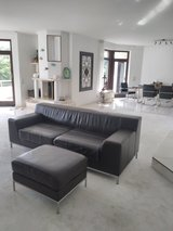 Leather Couch with ottoman in Stuttgart, GE