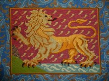 Medieval Lion Tapestry Needlepoint Kit in Ramstein, Germany