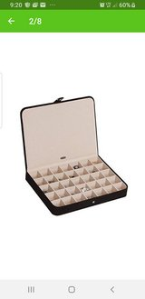 Mele Co. Cameron Plush Earring and Ring Holder Jewelry Box, 35 Sections (Black) in Naperville, Illinois