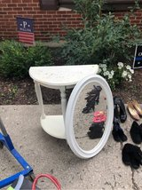 shabby chic table and mirror in Westmont, Illinois