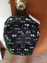 Black googly eyes backpack in Plainfield, Illinois