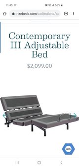 Rize Adjustable Bed w/mattress - bought 30 days ago!! in St. Louis, Missouri