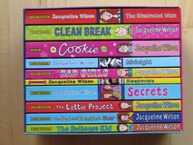 Jacqueline Wilson books in beautiful case in Stuttgart, GE