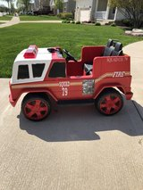 12v fire truck power wheels ride on in Naperville, Illinois