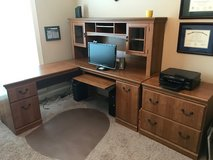 Office desk, hutch and matching file cabinet in Warner Robins, Georgia