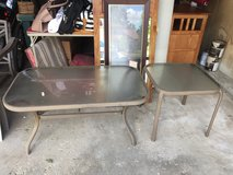 Patio Furniture: End table and coffee table in Joliet, Illinois