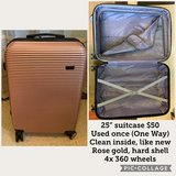 "like new, 25"" hard shell rose gold suitcase in Okinawa, Japan"
