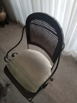6 vintage iron and wood chairs in Joliet, Illinois
