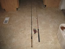 Two fishing rods and one reel in Camp Lejeune, North Carolina
