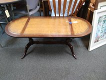 Vintage Leather Top Coffee Table in Bartlett, Illinois