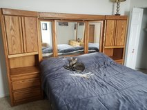 Solid Oak queen sized bedroom set in Naperville, Illinois