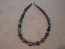Colorful Chunky Wood Bead Necklace in Naperville, Illinois