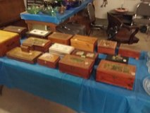 Small wood boxes in Fort Polk, Louisiana