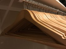 Set of Wooden Hangers in Lackland AFB, Texas
