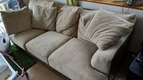 Ashley Furniture Suede Couch in Okinawa, Japan