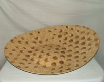 Large Marquetry Bowl / Dazzling Art Design Geometric Patterns in Glendale Heights, Illinois