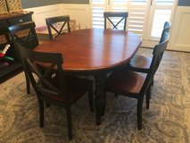 Brown and Black Dining/Breakfast Table with 6 Chairs in Kingwood, Texas