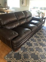 3 seater leather couch in Oswego, Illinois