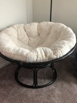 Papasan chair with base and cushion in Joliet, Illinois