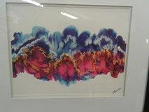 Dare Burriss Abstract Watercolor Signed #1715-915 in Camp Lejeune, North Carolina