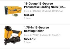 Bostitch Roofing Nail Gun and Coil Nails in Camp Lejeune, North Carolina