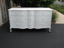 9 Drawer French Dresser and Mirror-Drexel Touraine in Bolingbrook, Illinois