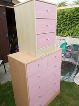 Pink Chest of Drawers and Side Drawers in Lakenheath, UK