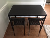 IKEA Black Table and chairs in Glendale Heights, Illinois
