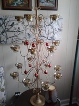 Tree with 18 glass cups for tea lights in The Woodlands, Texas