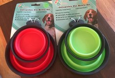 Collapsible Pet Bowl Set in Aurora, Illinois