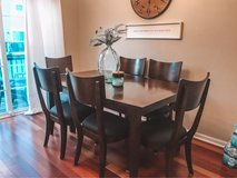Mahogany dining table with six chairs in Glendale Heights, Illinois