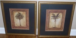 Set of 2 Palm Tree Pictures ~ Matted / Framed Art in Chicago, Illinois