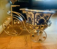 Metallic tricycle planter stand in Fort Knox, Kentucky