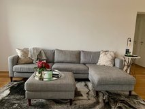 Beautiful sectional couch w/ottoman in Stuttgart, GE