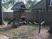 Outdoor Swing set and Slide in Kingwood, Texas